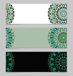 Abstract horizontal geometrical gravel mandala vector