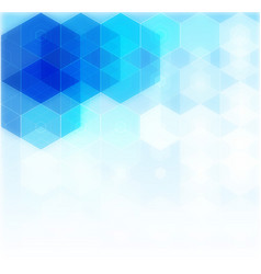 Abstract science background hexagon vector