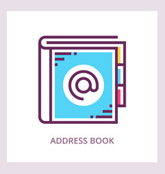 Address book icon business concept vector