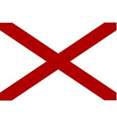 Alabama sate flag vector