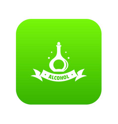 alcohol icon green vector image