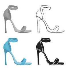 Ankle straps icon in cartoon style isolated on vector