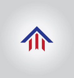 arrow home logo vector image