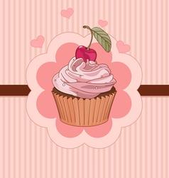 Beautiful cupcake place card vector