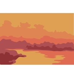 Beautiful sea sunset background vector image