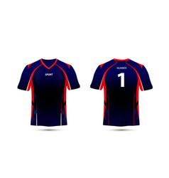 black red and blue layout e sport t-shirt design vector image