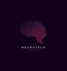 Brain logo design inspiration vector
