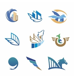 Business icons with horse and houses vector