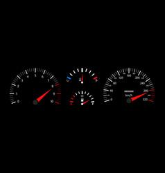 car speedometer dashboard tachometer vector image