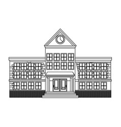 Cartoon school building cartoon education vector