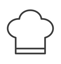 chef s hat for a chef simple food icon in trendy vector image