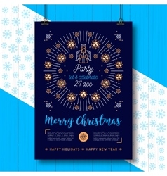 Christmas poster Xmas party flyer Religious vector