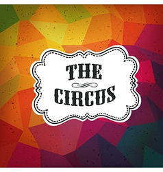 circus triangle retro background vector image