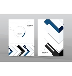 Colorful annual report cover vector