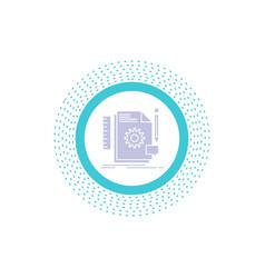 creative design develop feedback support glyph vector image
