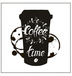 Cup of coffee takeaway for restaurant cafe bar vector