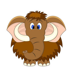 cute cartoon mammoth isolated vector image
