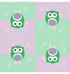 Cute seamless owl background patten for baby kids vector