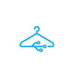 Digital laundry logo icon design vector