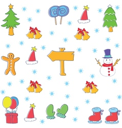 Doodle of christmas element collection vector