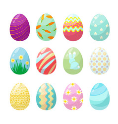 easter egg cute polo colorful decorated vector image