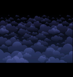 editable clouds lit moon at night made vector image