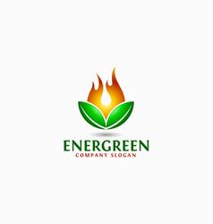 energy green logo template vector image