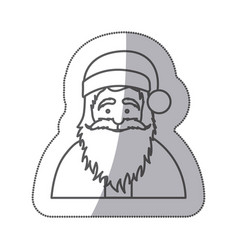 figure sticker santa claus icon vector image