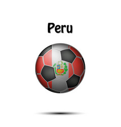 flag of peru in the form of a soccer ball vector image