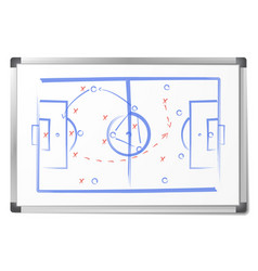 football tactic scheme was drawn with markers vector image