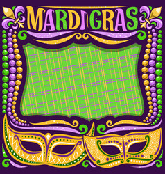Frame for mardi gras vector