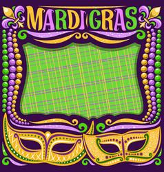 frame for mardi gras vector image