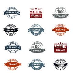 france stamp design set vector image