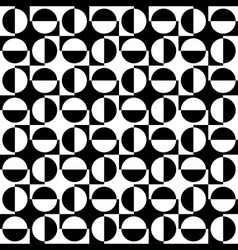 Geomatric Abstract Seamless Pattern BW vector image
