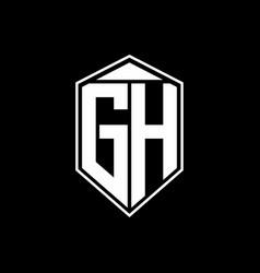 gh logo monogram with emblem shape combination vector image