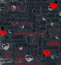 Gray background to the day of lovers in vintage st vector image