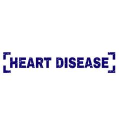 Grunge textured heart disease stamp seal between vector