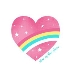 Hand drawing a heart and slogan vector