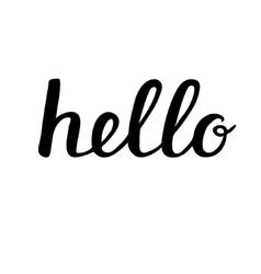 Hello brush lettering vector