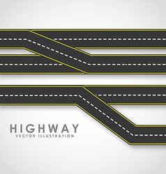 highway road vector image vector image