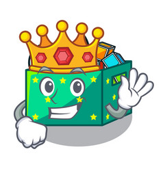 King children toy boxes isolated on mascot vector