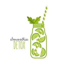 Lemon Detox icon Smoothie and Juice design vector