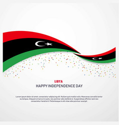 Libya happy independence day background vector