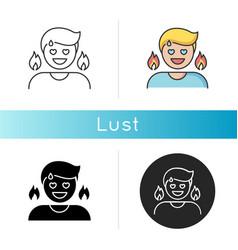Lust icon vector