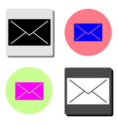 mail flat icon vector image