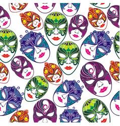 masquerade party masks vector image