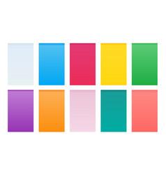 Material design gradient background set vector
