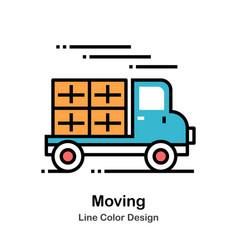 Moving line color icon vector
