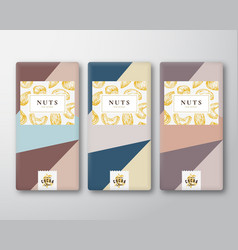 nuts chocolate abstract packaging design vector image