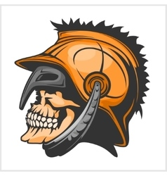 Old Vintage Antiques Skull Spartan warrior vector image